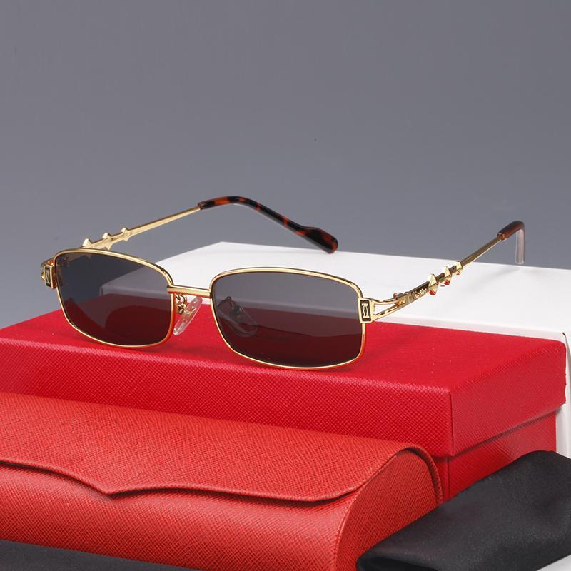 Gradient Clear Fashion Emballage Mode Mesdames Lunettes de soleil Métal avec des lunettes grises rétro Verres Verres classiques Nouvelle Arrivée Sunglasses JLFJQ