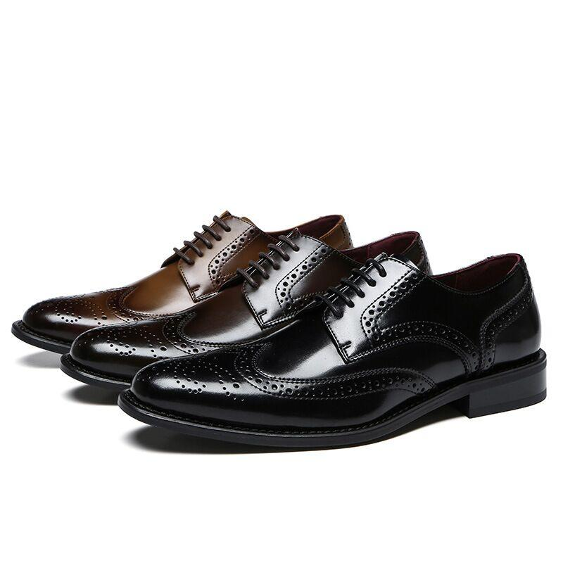 202 créateurs de mode style business style hommes chaussures en cuir marron noir sur le lecteur de mariage appartements fonds hommes décontractés robe pour fête