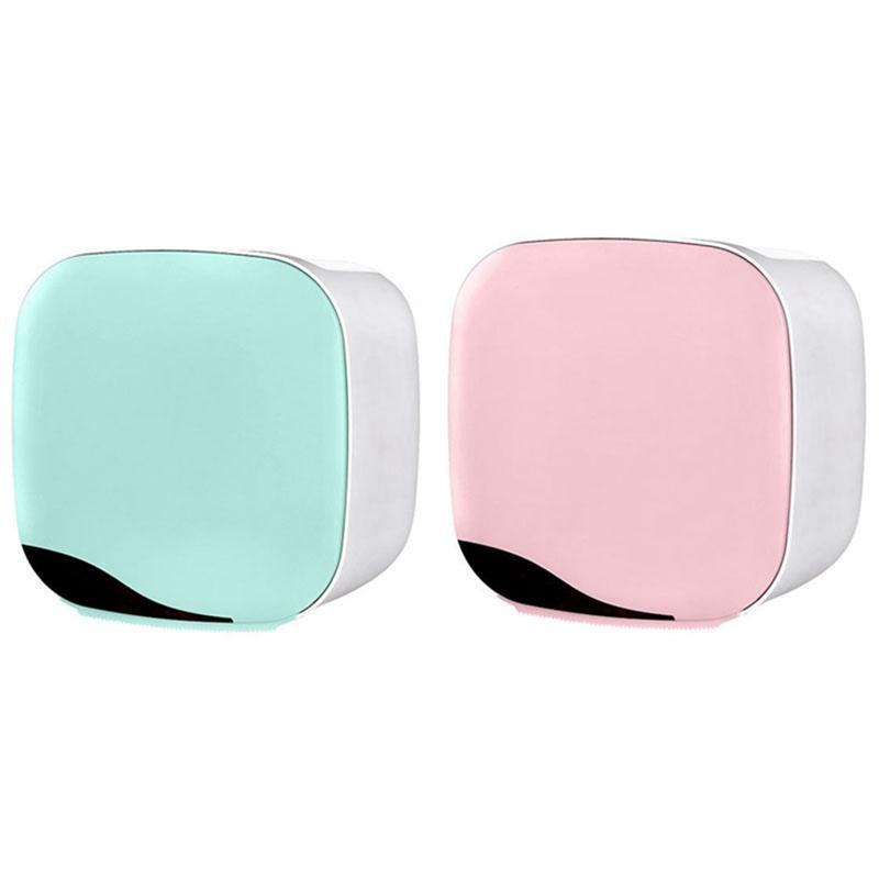 Ящики тканей салфетки 2ет настенный туалетной бумаги держатель коробки водонепроницаемая рулонная трубка розовый зеленый