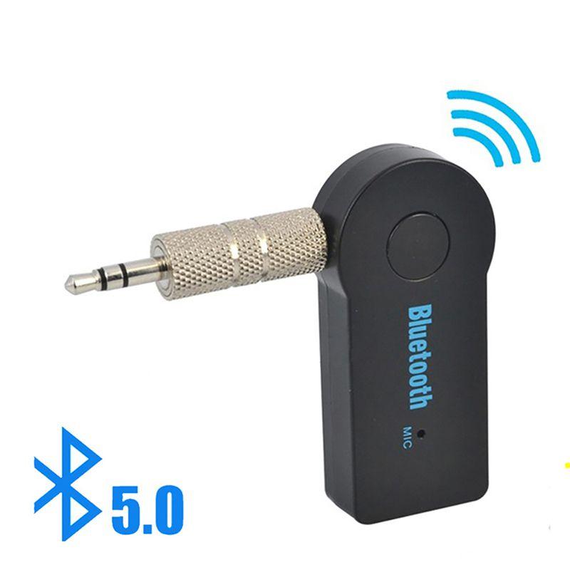 2 in 1 Bluetooth wireless 5.0 Ricevitore Adattatore Adattatore 3.5mm Jack per auto musica Audio Aux A2DP Cuffie Headphone Reviever vivavoce