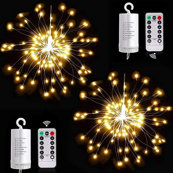 DIY Firework String Lampes à LED Strip 8 modes Fairy Light 4AA Batterie Powered Mariage Partie de mariage en plein air Décoration de Noël