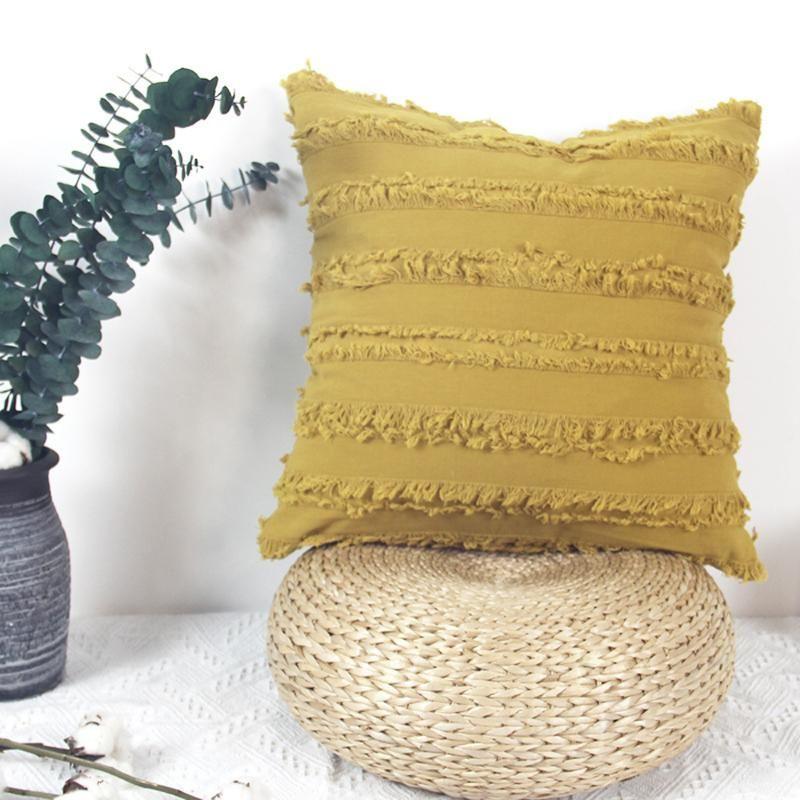 Coussin d'oreiller créatif couvre-oreillers Coussins décoratifs de couleur massif Coussins de coussinets pour la maison de bureau Sofa House de Coussin 45 * 45