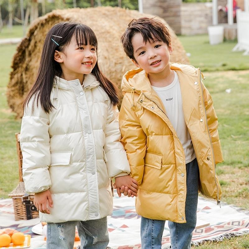 Sundae Angel Детская Зимняя Куртка для мальчиков 90% Белая Утка Одежда с капюшоном Утолщенные Девушки Пальто детской Теплый Верхняя Одежда 201103