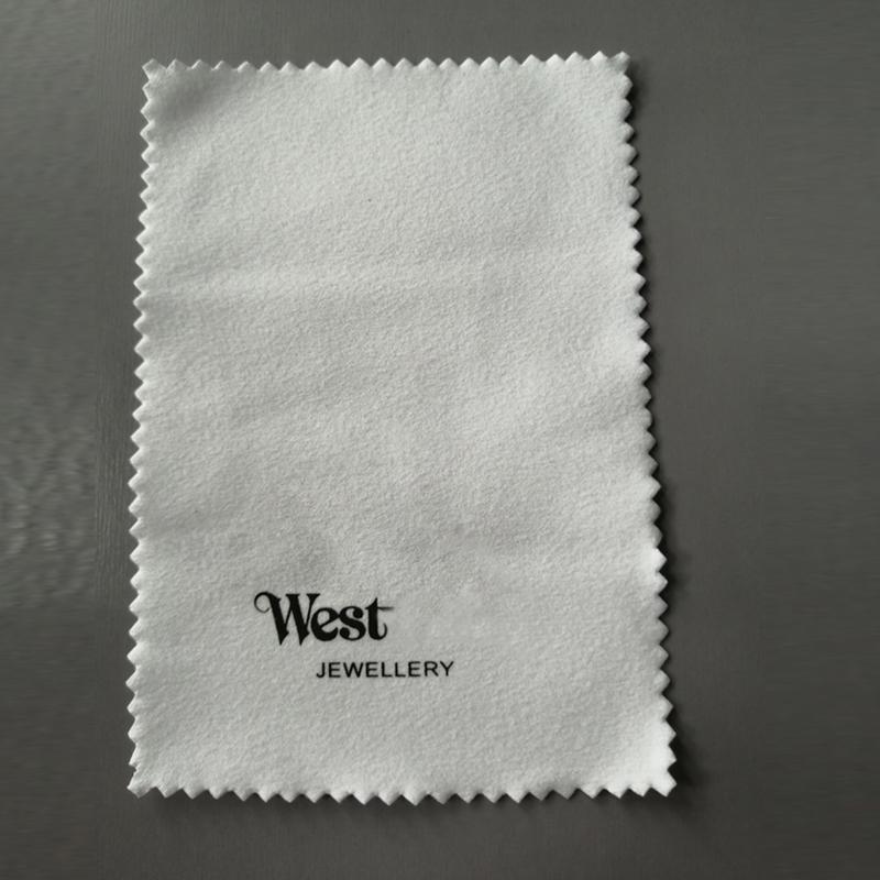 Neue Ankunft Brief Schmuck Reinigungstuch Weiß Baumwolle Saturn Brief Schmuckreiniger Hohe Qualität Großhandel Preis