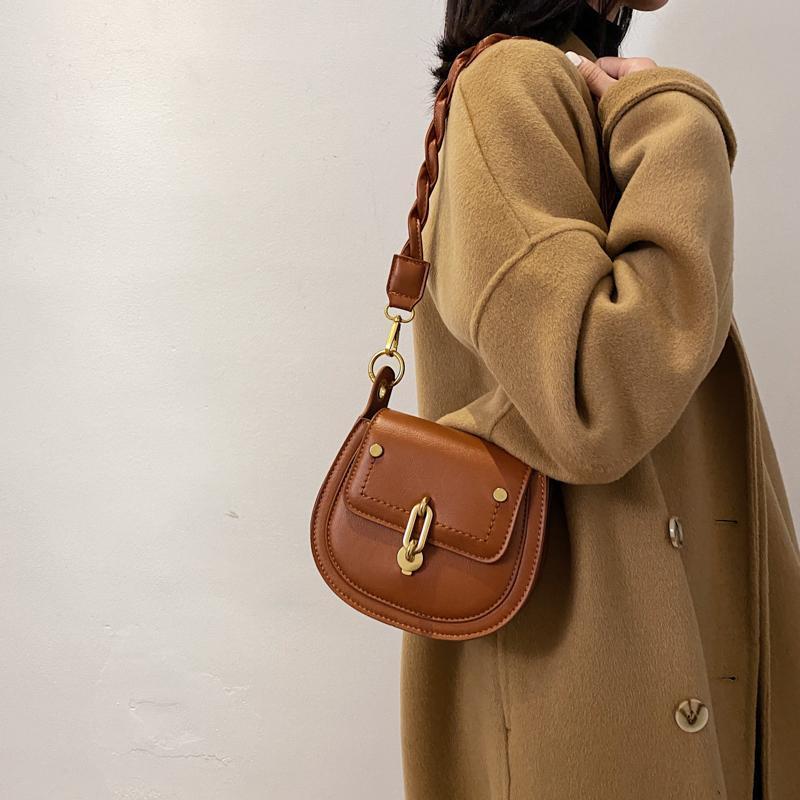 Luxus Frauen Mode Schulter Weibliche Designer Sattel Handtaschen Für Leder 2021 Crossbody PU Bag Einfache Marke Kleine Taschen Ajjix