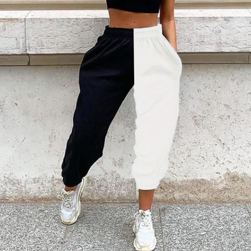 VERTIVE New Women's Sweatpants Gym High Waist Contrast Stitching Toe Casual Pants Jogging Pants Sport Streetwear