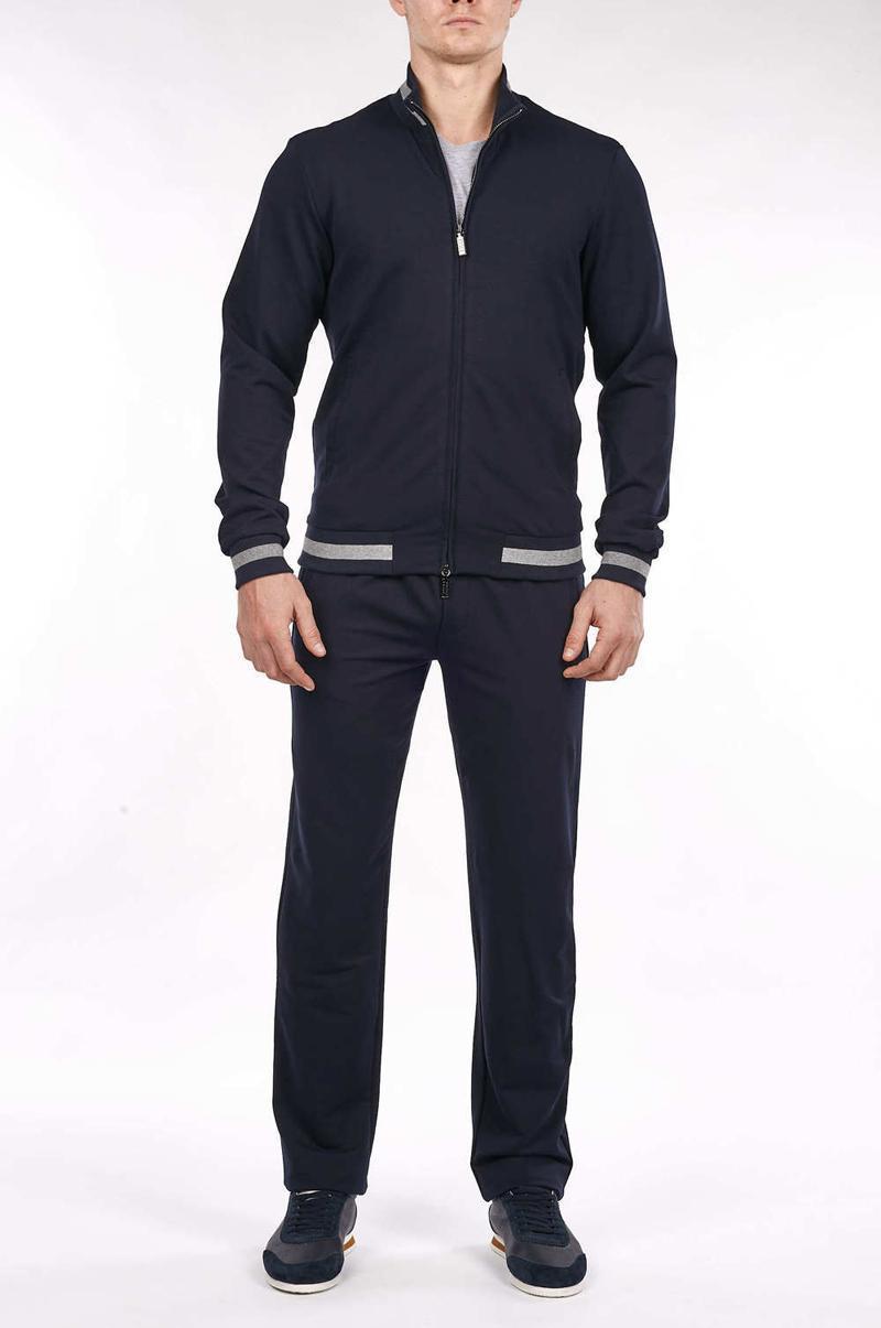 남자 트랙스 스포츠웨어 세트 남자 2021 봄 패션 카디건 코튼 지퍼 사업 자수 고품질 큰 크기 M-4XL