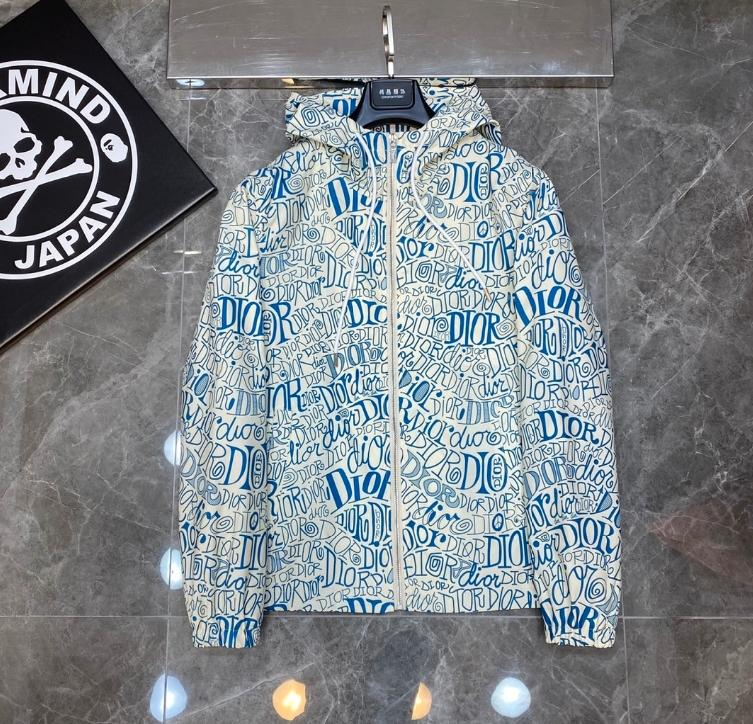 클래식 편지 디자이너 망 캐주얼 자켓 # 001 유럽 파리 럭셔리 가을 겨울 패션 브랜드 코트 3D 인쇄 흰색 지퍼 겉옷 BB