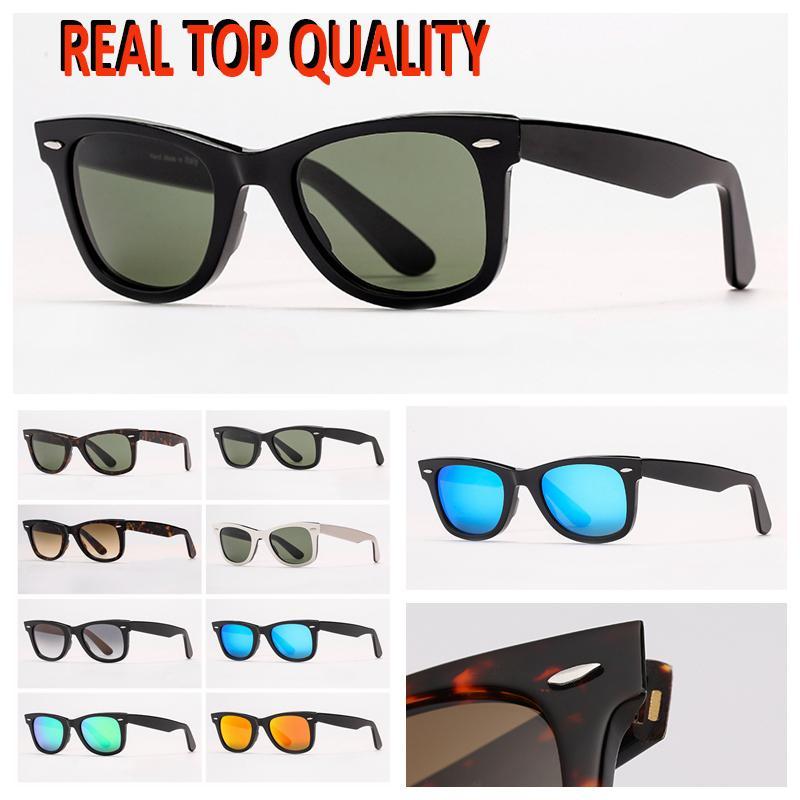 Moda para hombre gafas de sol para mujer gafas de sol degradado Lentes de cristal de Gafas de vidrio Deslettes de Soleil para las señoras Playa Accesorios de moda con etiquetas de línea roja