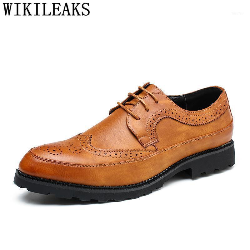 Zapatos de vestir Hombre hecho a mano Boda Brogue Elegant Coiffeur Formal Classic Zapatos de Hombre Vestir Bona1