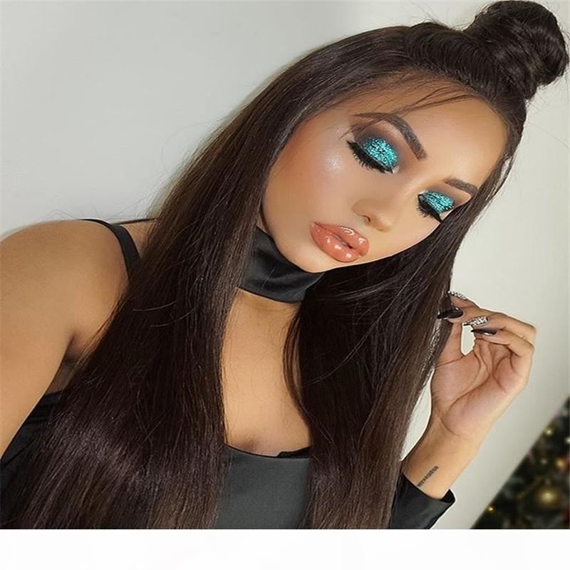 7A Straight Lace Front Human Hair Wigs For Black Women Brazilian Full Lace Human Hair Wigs With Baby Hair Glueless Full Lace Wig