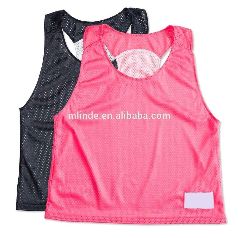 Пользовательской Сублимация Американской Uniform Дизайн Дама сетки Реверсивный Практик лакросс жилет Pinnie для футбола Футбол