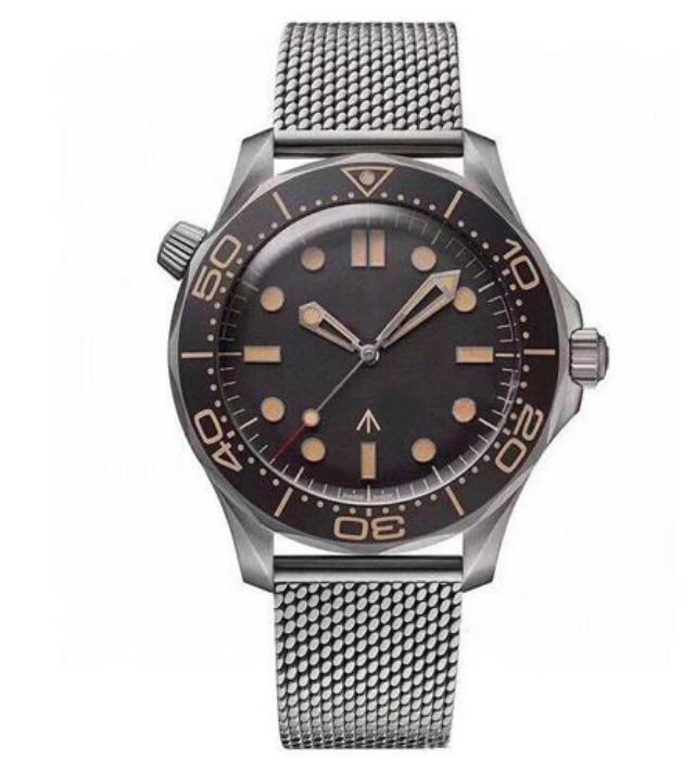 Montre de luxe Diver 007 Edition Master Planet 600m 2813 Mouvement mécanique automatique Hommes Montres Nylon Sports Montres-bracelets