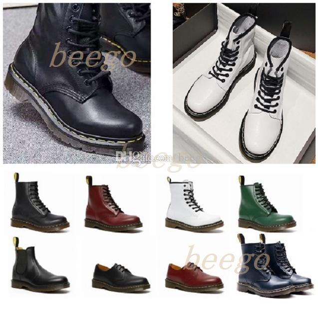 2021 CLASSIC 1460 человек ботинок лодыжки кристалл подошвы Martin мужские женские женские меховые снежные Martins 8-луночные ботинки DOC подушки подошвы обувь 36-46 33 #