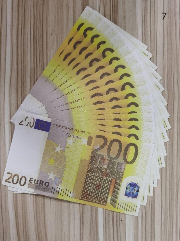Prop Business Play Bank Copia denaro Nightclub Movie Collezione FAKE 200EUROS Nota La maggior parte dei soldi Denaro soldi per realistico 19 QKDCP