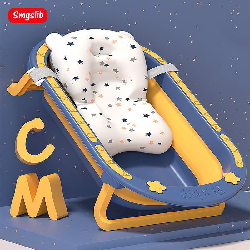 Foldable Baby Take a bath Bathtub Non-Slip Foot Bath Bucket Folding Portable Pet Dog Cat Bathtub Bathroom Laundry Basket 201019