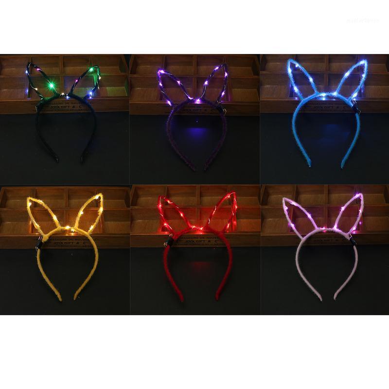 Menina Decoração de Natal Headbands vestido de Natal festa de cabelo faixas acessórios LED iluminação headbands decorativo1