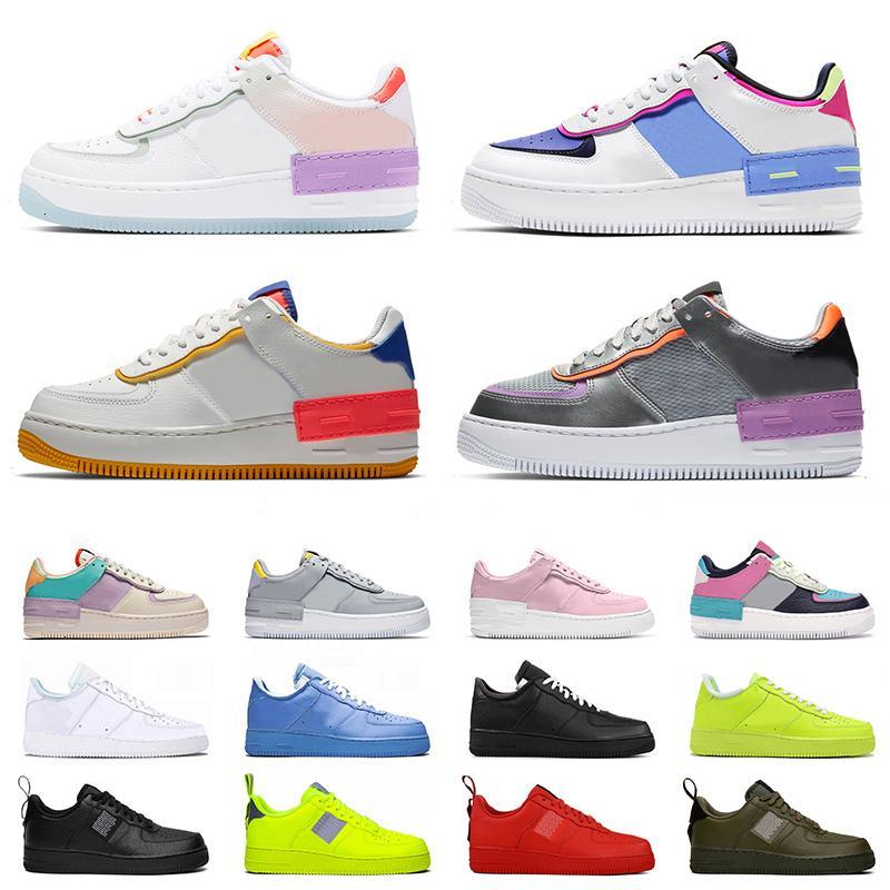 Shadow Hot Fashion Dunk 1 Mulheres Running Shoes Mens Trainers MCA University Blue Platform Sneakers Utility Volt Vermelho