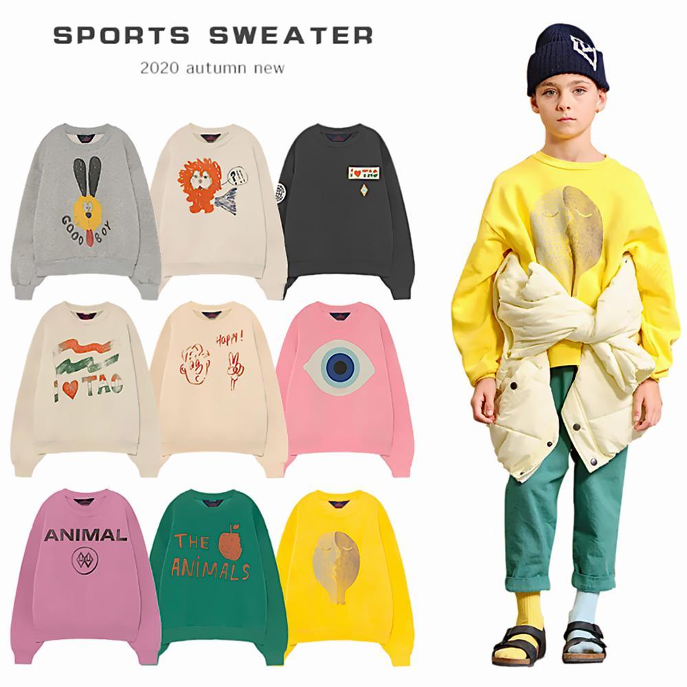 Kız bebek tshirt Karikatür Çocuk Ins Giyim 1006 için 2020 Tao Marka Çocuk Hoody Boys T- Shirt Kızlar T Gömlek Erkek Gömlek