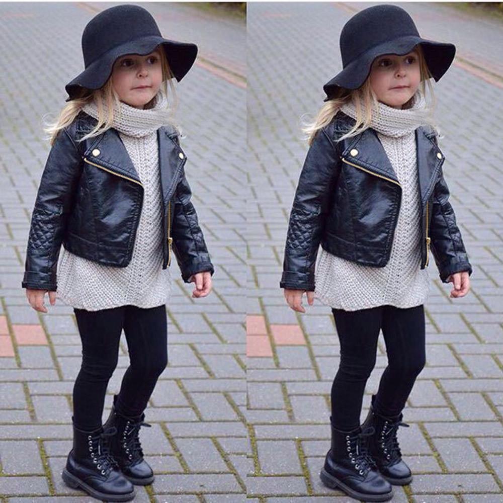 Новая мода весна и осень и ветер искусственная кожа кожаное пальто детские мальчики и девочки короткие дети куртка Y200831