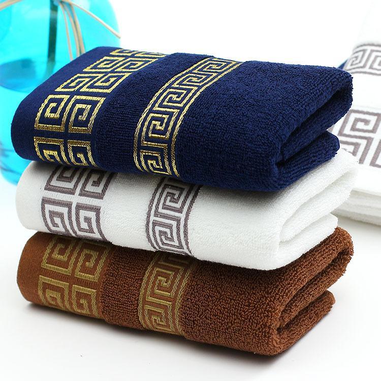 منشفة من القطن المناشف المصنعين الجملة الرجال التجارة الخارجية في منشفة الظلام الإعلان هدية مجموعة هدية مربع شعار التخصيص