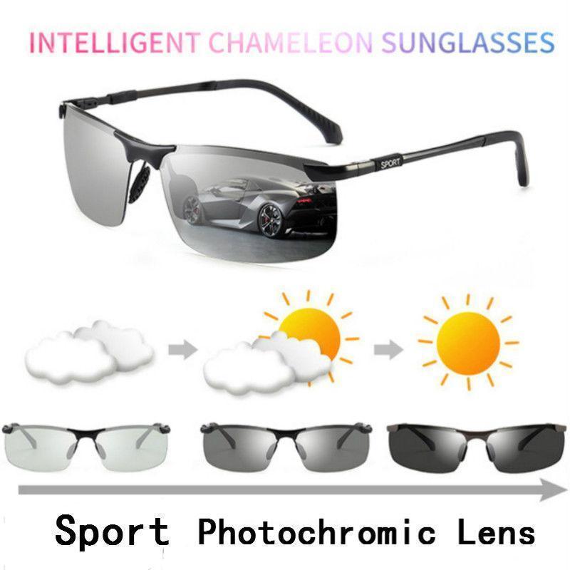 Lunettes de soleil photochromique Hommes Polarized Chameleon Lens Male Change Couleur Sports Sun Verres Jour Night Vision Conduire Eyewear1