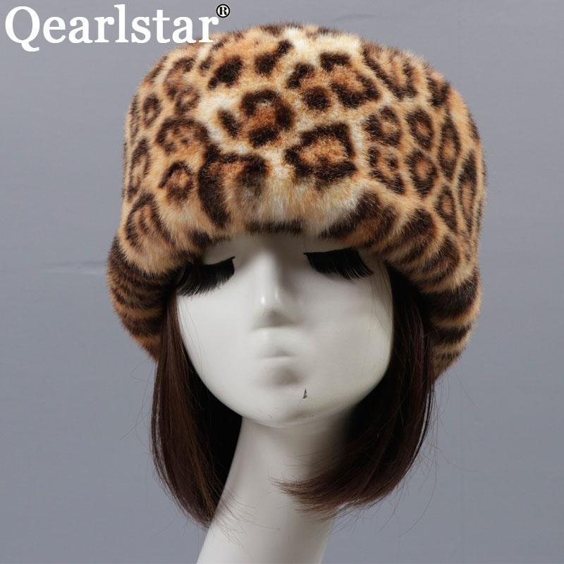 2020 New Russian Style Hüte Winter Frauen flauschige Kunstpelz Skullies Beanies Ski Bomber Pelzmütze Skimütze ZKG21