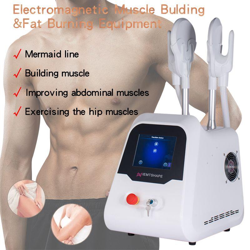 최신 Emslim 하이 엠트 머신 EMS 전자기 근육 자극 지방 굽기 쉐이핑 Hiemt EMS Sculpt Beauty Equipment 무료 배송