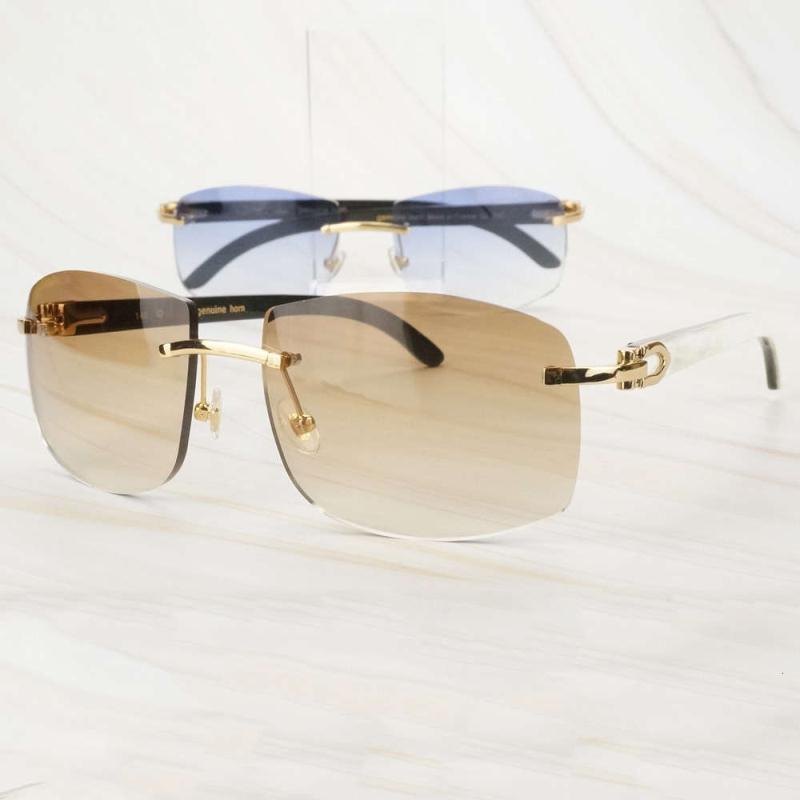 Schmutzige designer männer carter übergroß für frauen büffel sonnenbrille luxus weiß horn glas große shades neue bkvcv
