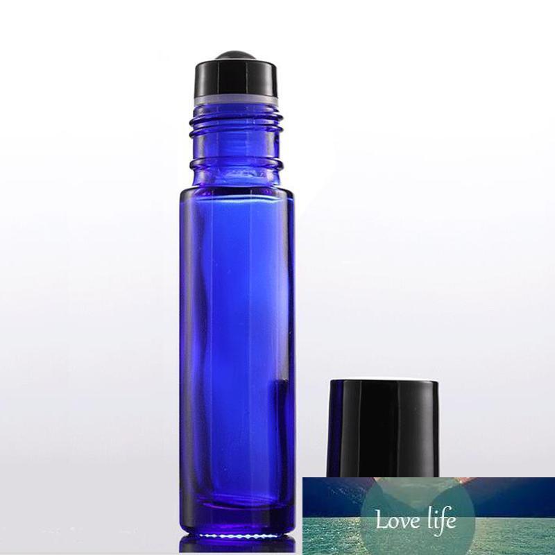 Date bouteille roulante de 10 ml en verre bleu ambre clair vides bouteilles de parfum Essentiels Oi avec la nouvelle bille pour cosmétique
