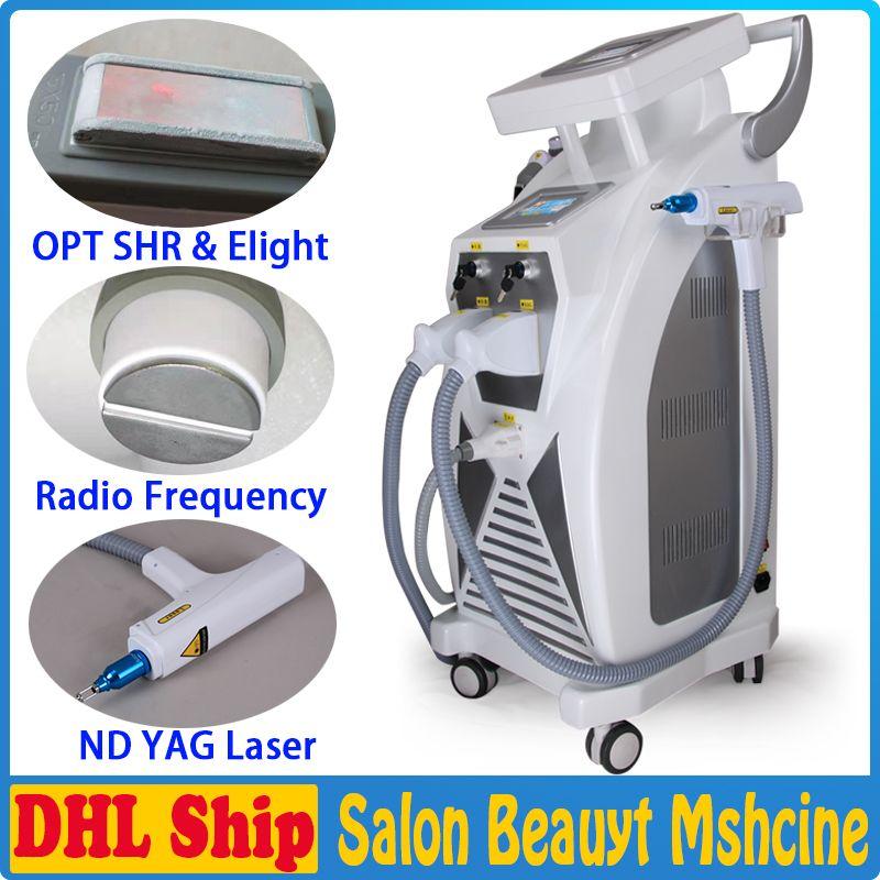 Good Effect Optimal Pulsed Technology OPT ipl permanent Hair Removal SHR E-light IPL RF nd Yag Laser Multifunction Beauty Equipment