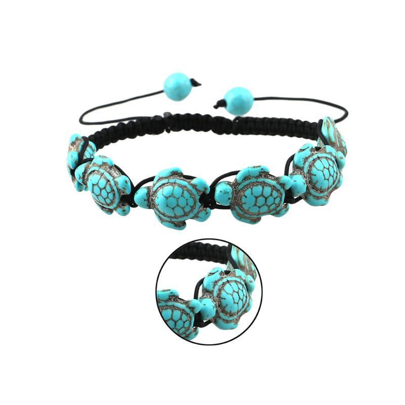 2020 homens Hot venda tartaruga verde charme brgacelet projeto trançado ajustável bracelete grânulo clássico jóias presentes Unisex