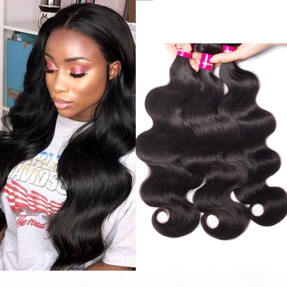 8A onda do corpo brasileiro onda reta onda solta onda profunda Kinky curly cabelo humano extensões 100% não transformado cabelo peruano brasileiro