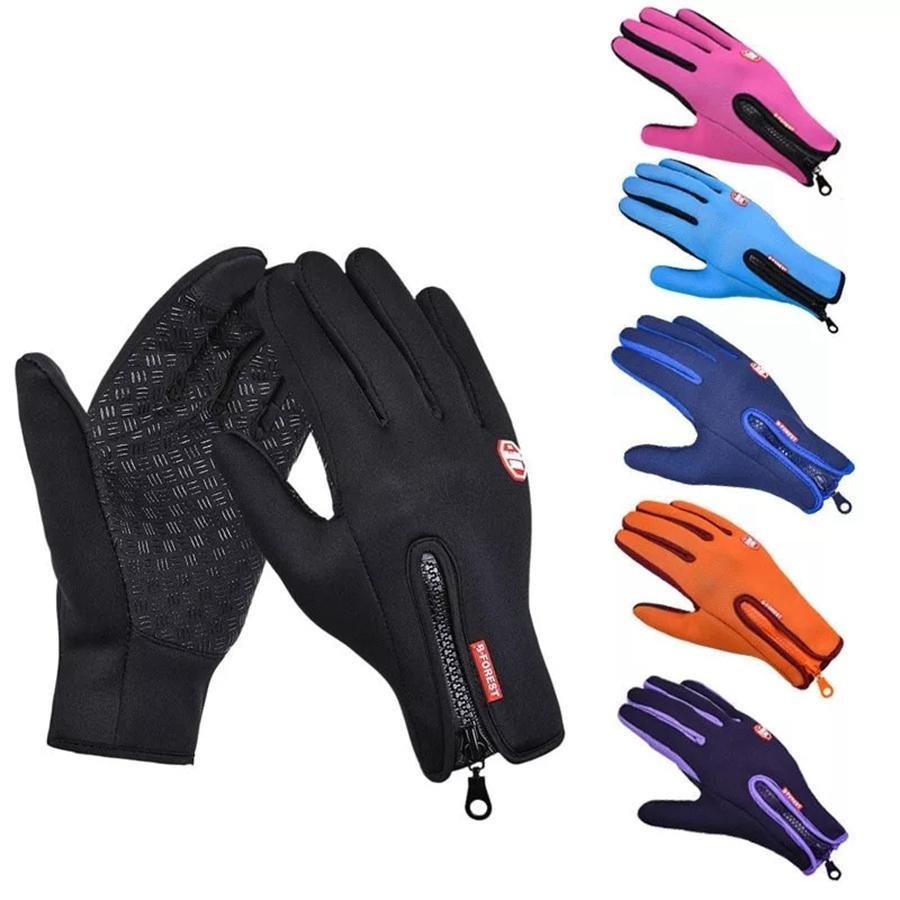 Luvas de ciclismo inverno esportes ao ar livre windstopper luvas térmicas impermeáveis homens mulheres motocicletas dirigindo caminhadas luvas de esqui dda750