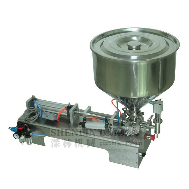 Einfügen Material Füllmaschine 10-100ml halbautomatischer Kolbenfüller pnuematic Flüssigkeit Abfüllanlagen und Verpackungsindustrie