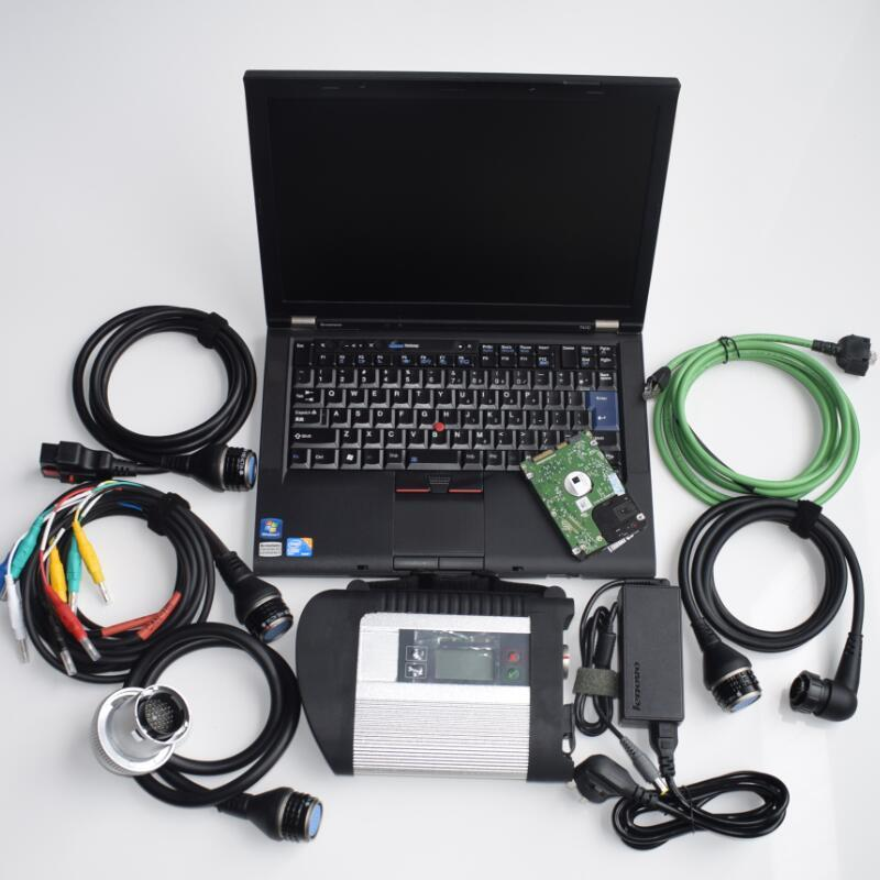 2020.09v hdd mb sd c4 software in t410 laptop cpu 4G used computer plus mb star c4 sd connect compact 4 full set Ready to work