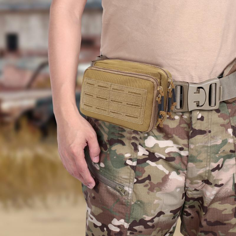 Molle Phone Pouch Waist Bags Outdoor Camping 1000D Nylon Hiking Sport Zipper Bag for Outdoor Exercise Sport Decoration