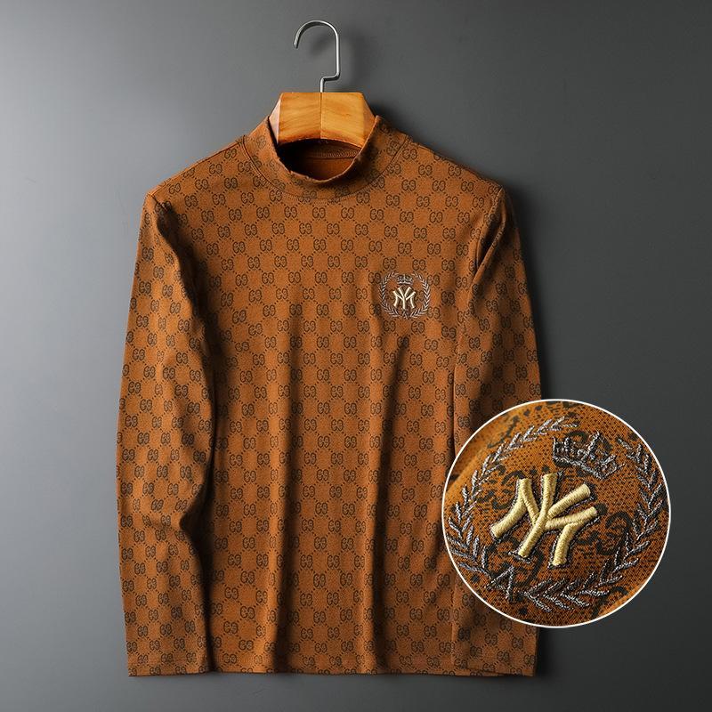 Herbsthülse und lange Winter 2020 Neues Plüsch gedruckt gesticktes Top-Männer-T-Shirt
