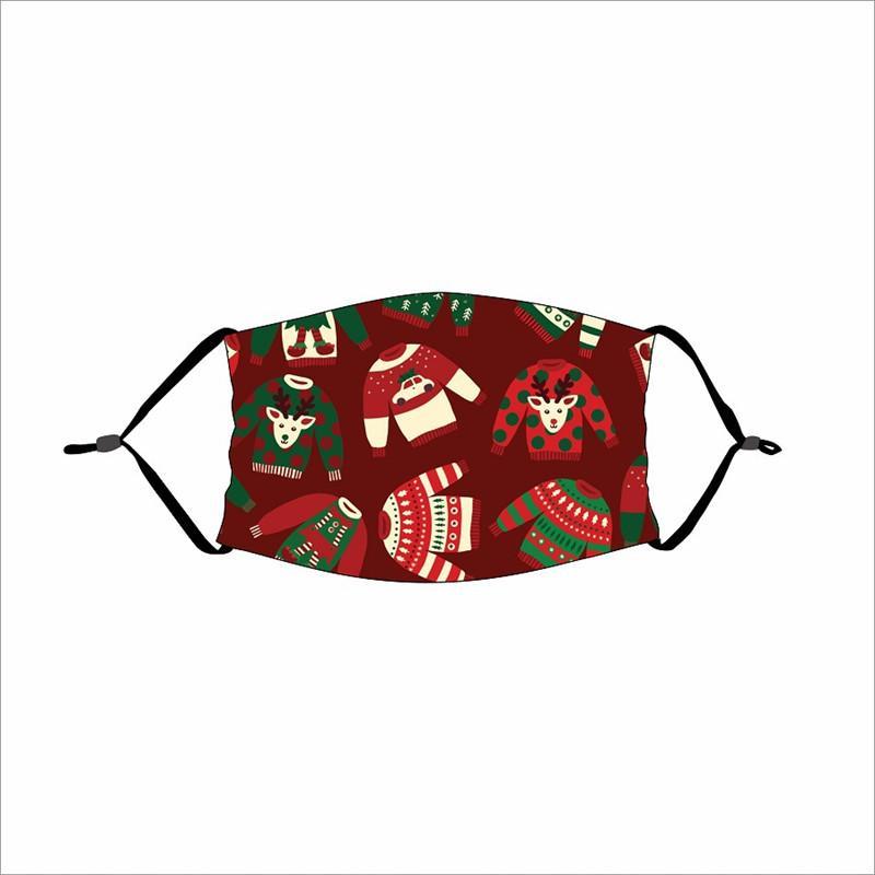 Máscaras fiesta de Navidad de los niños del envío de DHL reutilizable invierno Máscara Máscara caliente imprimió la historieta de la boca de la cubierta a prueba de viento adulto Cara Con Filtro HHA2065