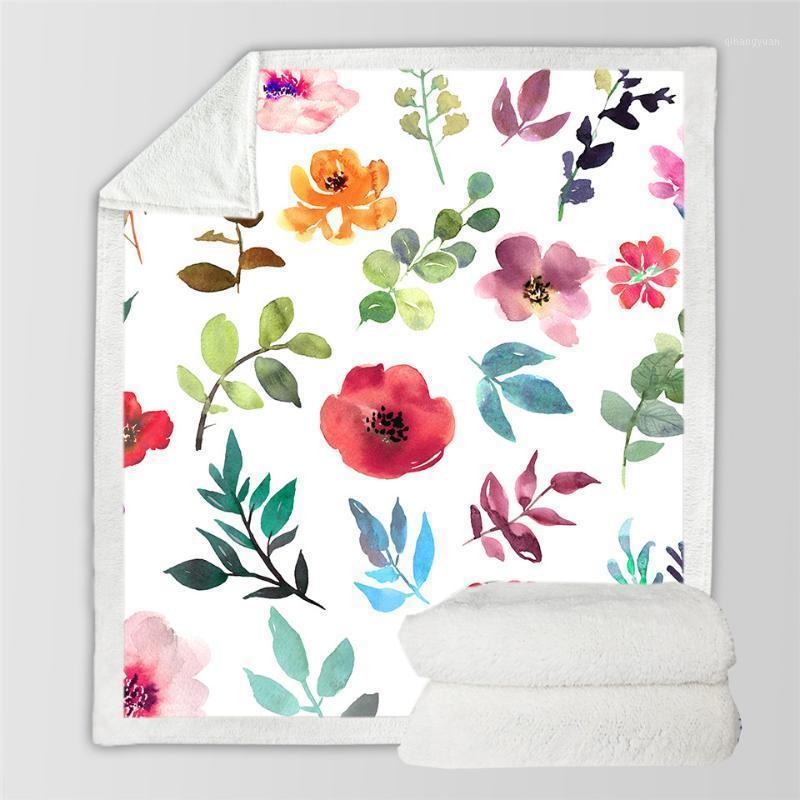 Flor girasol gracioso carácter manta impresión 3D sherpa manta en cama casera textiles de ensueño estilo de ensueño 081