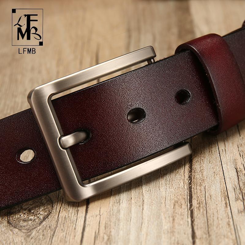 Cintos [lfmb] Cinto de couro homens para vaca Genuine Leather Strap Designer Masculino Ceinture Home