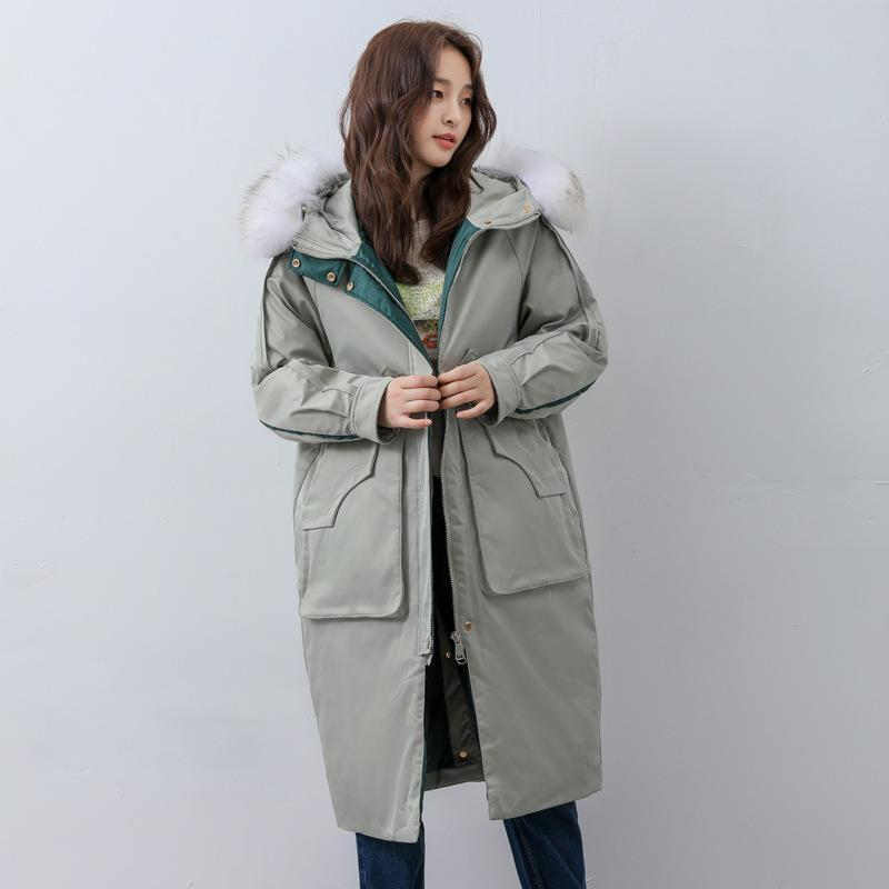 Kadın Aşağı Parkas Lüks Bayan Mont Kürk Yaka Miegofce 2021 Kış Rüzgarlık Dış Giyim Rahat Sıcak Üst Markalar Ceketler Artı Boyutu