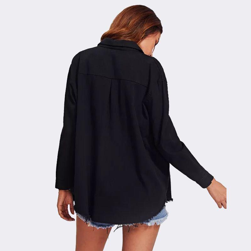 4Colors Femmes Veste Denim Manteaux Nouveau Spring Automne Spring Mesdames Collier Collier Poches Vestes Fashion Boutons Slim Femme Outwears 201007