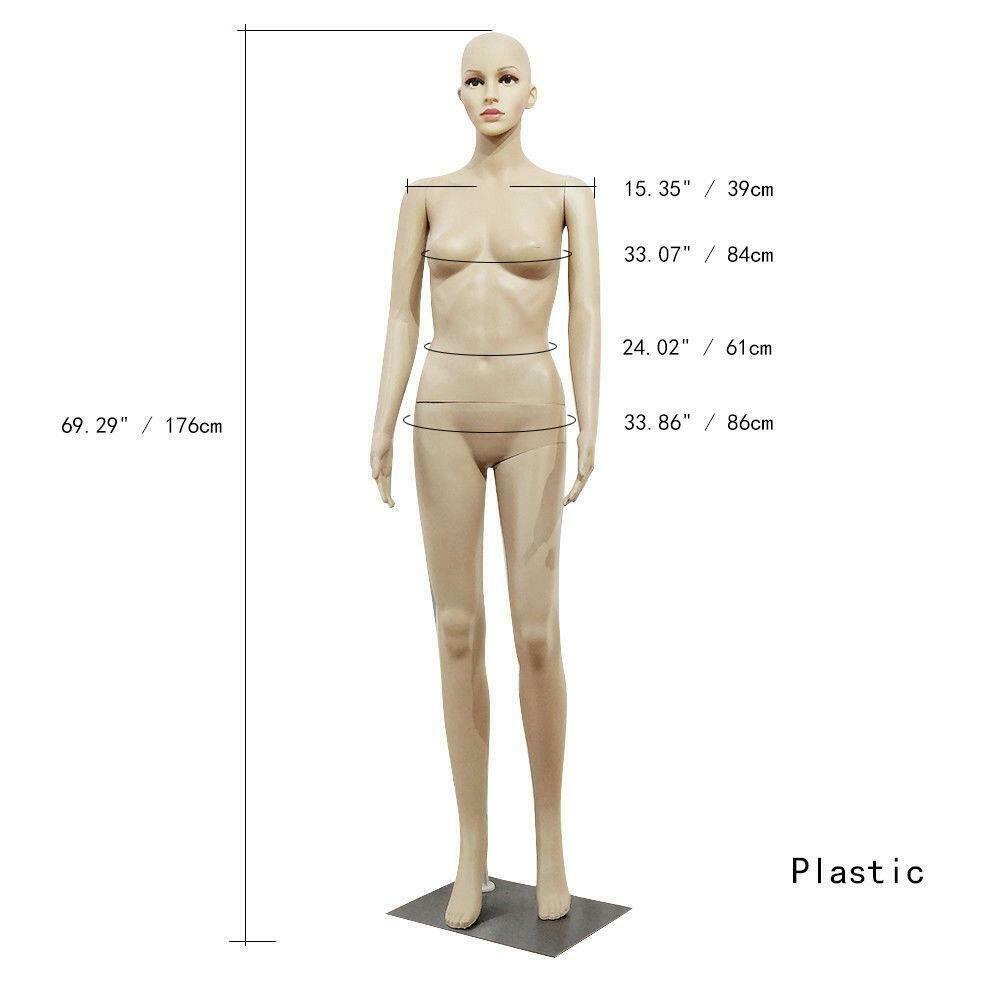 Full Body Femme avec Mannequin / Base de plastique affichage réaliste tête tourne Robe