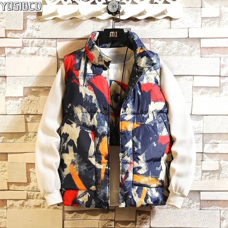 Campo parkas sin mangas hombres chaleco chaqueta de invierno moda otoño hip hop streetwear chaquetas mujeres masculina suelta japón capa casual s-3xl