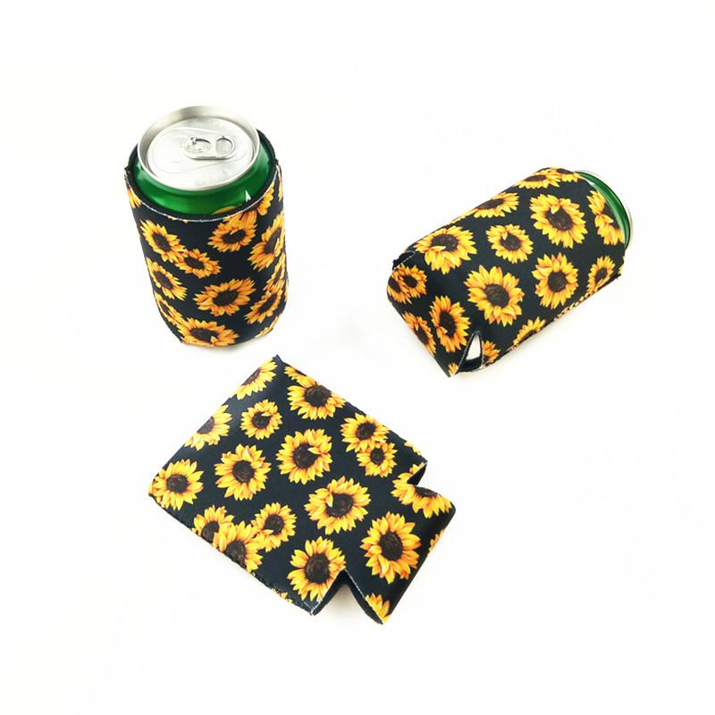 Neopren İçecek Soğutucu Katlanabilir Slim Can Bira İzolatörleri Premium Kola Soda Şişe Koozies Kaktüs Leopar Can Sleeve Bea2433