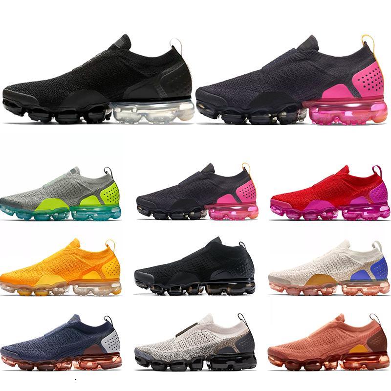 Más nuevos MOC 2.0 hombres zapatos de mujer triple negro gris rosa trigo universidad rojo voltio para hombre zapatillas deportivas Sports Tamaño 5.5-11