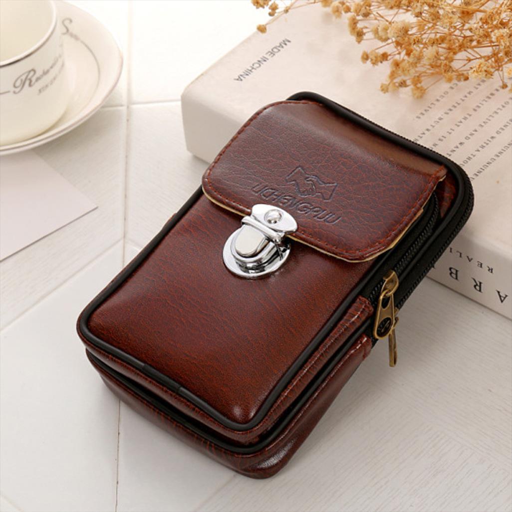 Casual Homens Cintura Deck Versátil Simples Para Bolsas Bolsas Cintura Pacotes Celular Marca Homens Bag Doubos Sacoche Homme WJFKT
