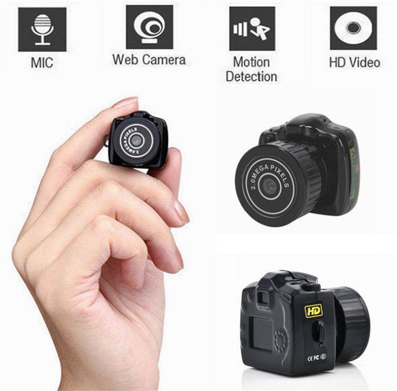 Hot Y2000 Hide Candid HD Smallest Mini Camera Camcorders Digital Photography Video Audio Recorder DVR DV Camcorder Portable Web Micro Camera