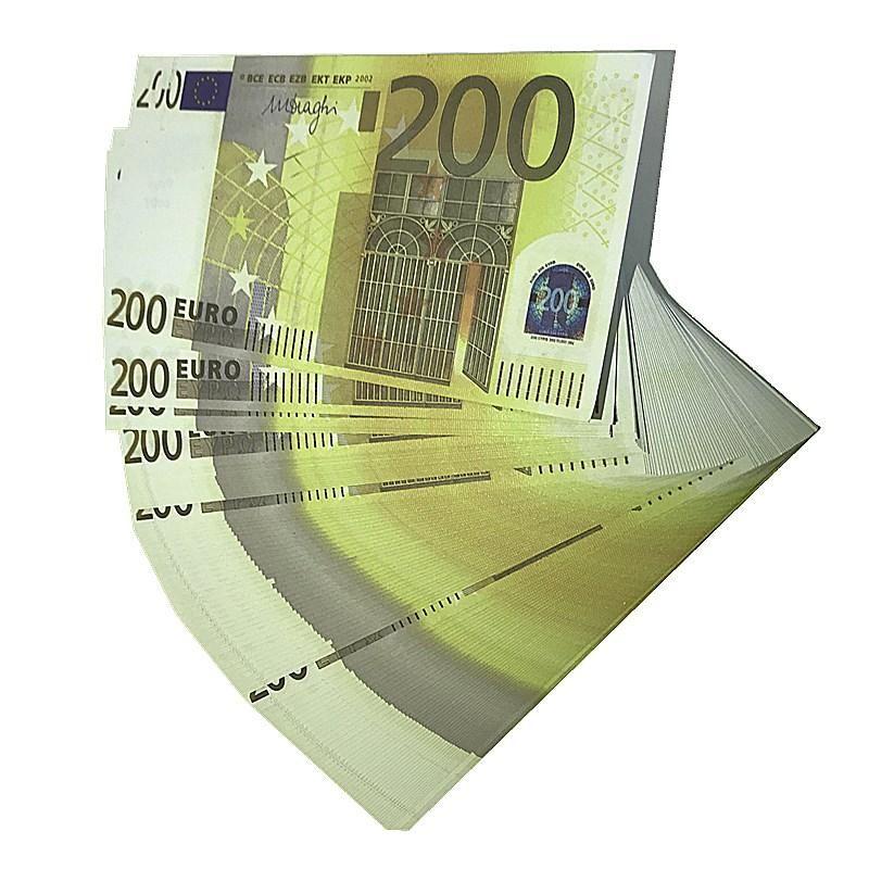 FAKE 100PCS / PACK BRA BRA MONEY DOLLARS 200 CONCORPOGGIO DKOQX PLAY PLAY Movie Euros Billet Valuta Prop Euros EUR K10 Money Faux CWQPG